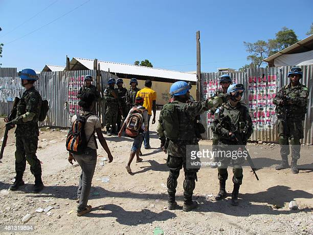haiti presidential run-off election, march 20, 2011 - peacekeeping stock pictures, royalty-free photos & images