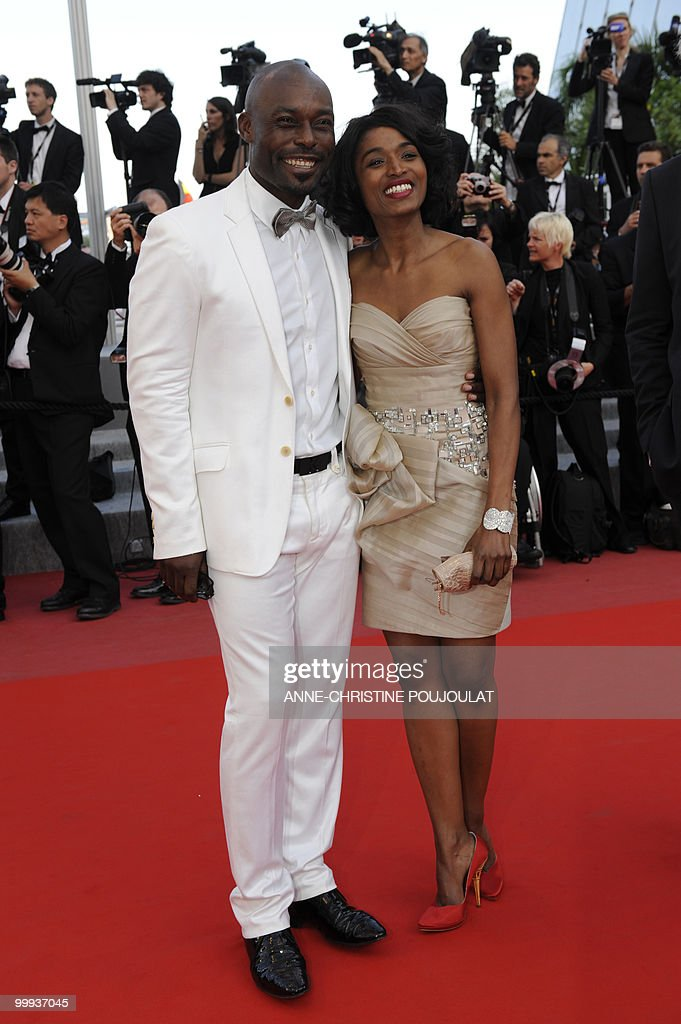Haitian actor Jimmy Jean-Louis and wife : News Photo