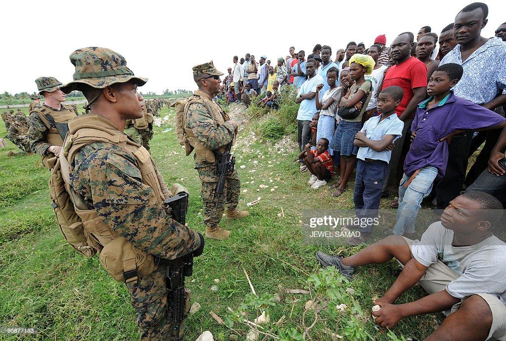 Haitian earthquake survivor watch as US : News Photo