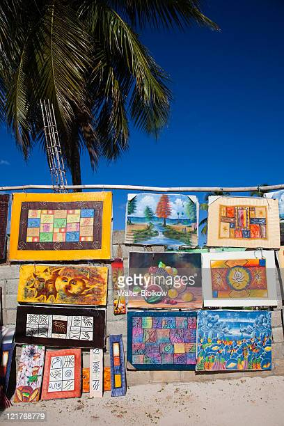 haitian paintings for sale, las galeras, samana peninsula, dominican republic - painting art product stock pictures, royalty-free photos & images