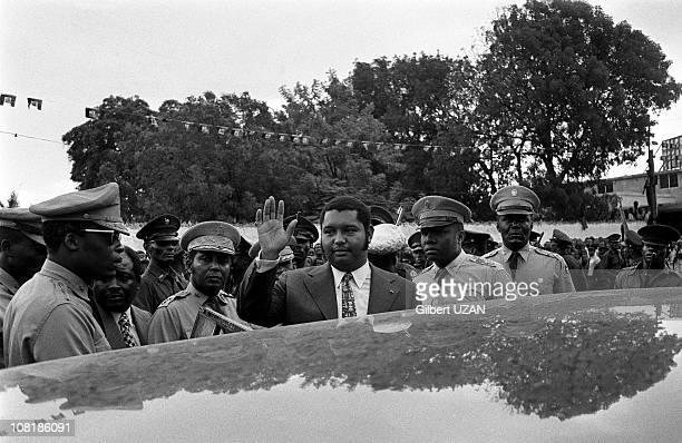 Haitian President Jean-Claude Duvalier attends a mass in Port-au-Prince, Haiti.