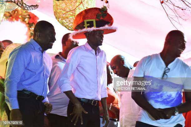 Haitian President Jovenel Moise attends a Christmas Parade on the streets of the commune of Petion Ville in the Haitian capital PortauPrince on...