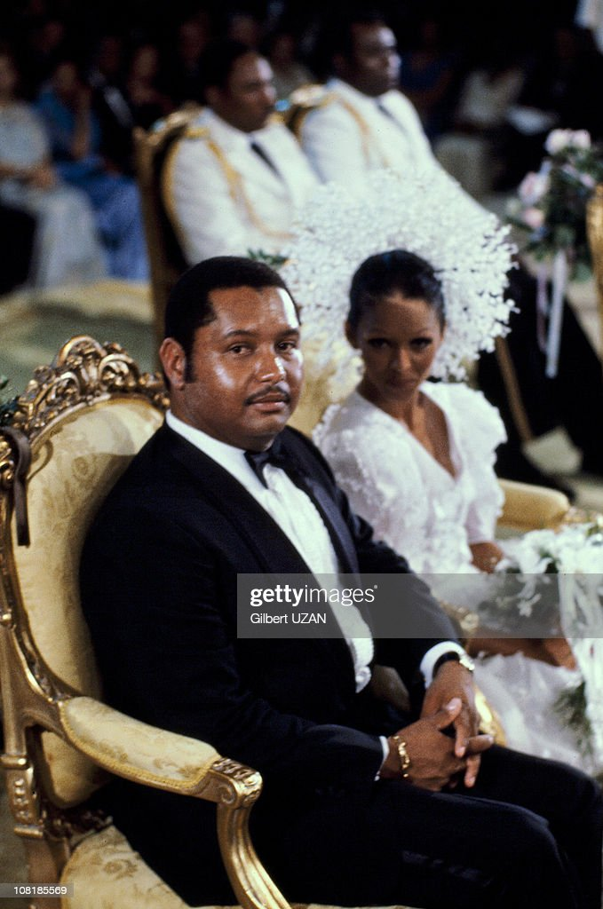 Haitian President of Jean-Claude Duvalier and Michele Bennet during their wedding on May 25, 1980 in Haiti.