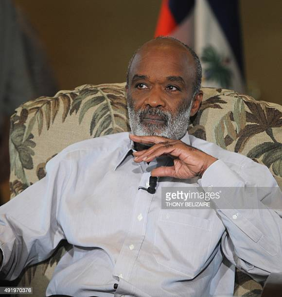 Haitian President Rene Preval gives a television interview for TV5 September 10 in PortauPrince AFP PHOTO Thony BELIZAIRE