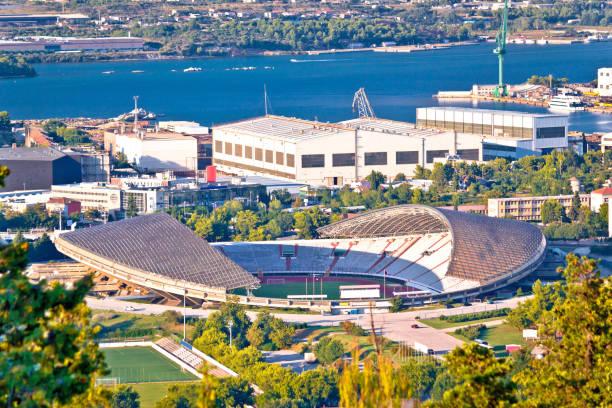 Hajduk Split Poljud stadium aerial view