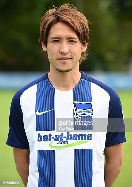 Hajime Hosogai of Hertha BSC during the team presentation of Hertha BSC on July 12 2016 in Berlin Germany