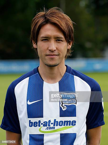 Hajime Hosogai of Hertha BSC poses during the Hertha BSC Team Presentation on July 12 2016 in Berlin Germany