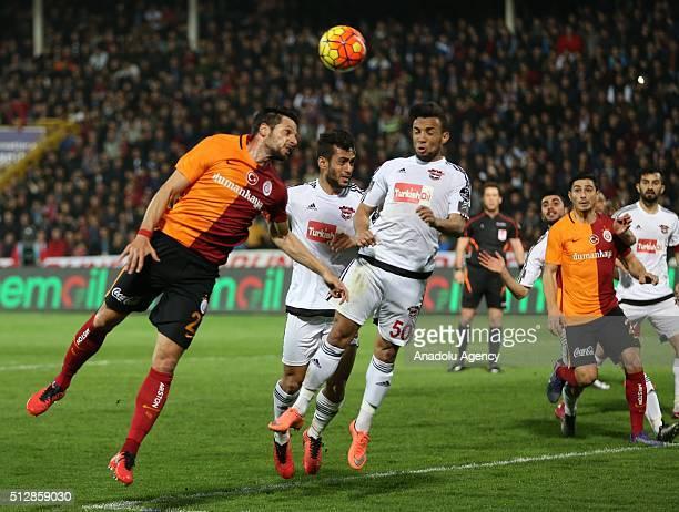 Hakan Balta of Galatasaray in action during Turkish Spor Toto Super Lig football match between Gaziantep and Galatasaray at Kamil Ocak Stadium in...