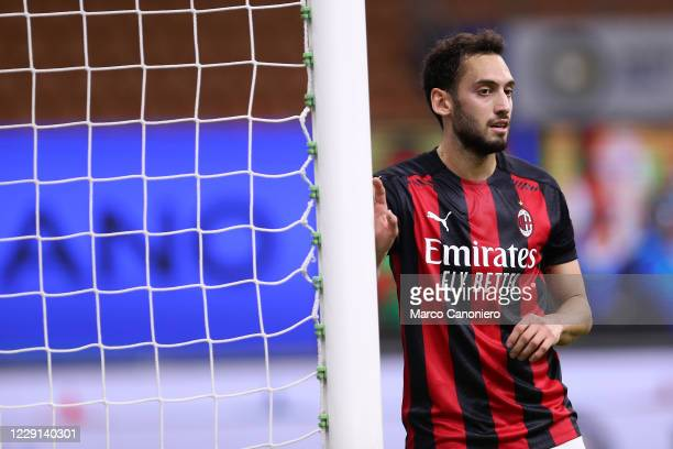 Hakan Calhanoglu of Ac Milan during the Serie A match between Fc Internazionale and Ac Milan. Ac Milan wins 2-1 over Fc Internazionale.