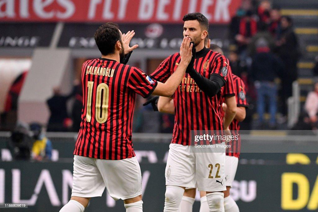 AC Milan v Sassuolo - Italian Serie A : Nachrichtenfoto