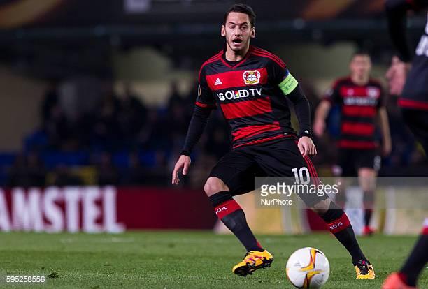 Hakan Calhanoglu of Bayer 04 Leverkusen during UEFA Europa League Round of 16 first legs match between Villarreal CF and Bayer 04 Leverkusen at El...