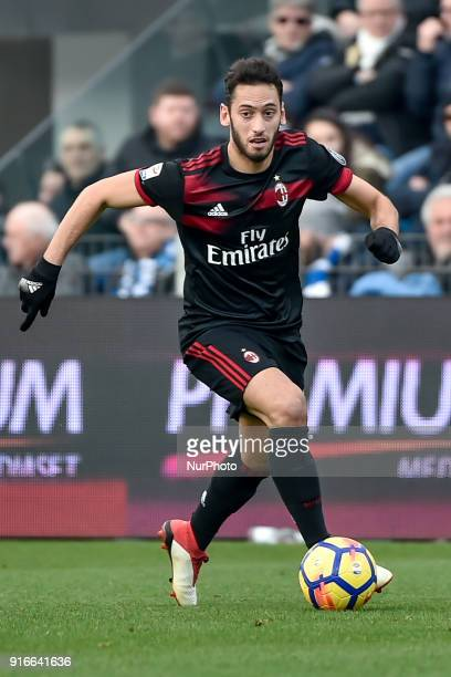Hakan Calhanoglu of Milan during the Serie A match between SPAL and AC Milan at Paolo Mazza Stadium Ferrara Italy on 10 February 2018