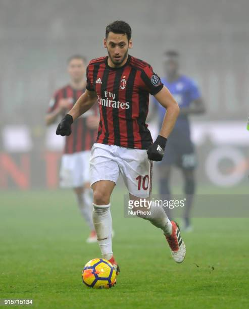 Hakan Calhanoglu of Milan player during the match valid for Italian Football Championships Serie A 20172018 between AC Milan and SS Lazio at San Siro...