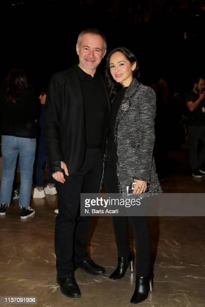 Hakan Kodal and Aysegul Kodal attend the MercedesBenz Fashion Week Istanbul March 2019 at Zorlu Center on March 20 2019 in Istanbul Turkey