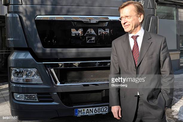 Hakan Samuelsson chief executive officer of MAN AG poses prior to the presentation of the company's 2008 results in Munich Germany on Thursday Feb 19...