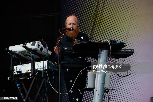 Hakan Wirenstrand of Little Dragon performs during the All Points East Festival at Victoria Park on May 24 2019 in London England