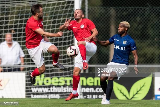 Hakan Özmert of Antalyaspor AS Mustafa Inan of Antalyaspor AS Lisandro Semedo of Fortuna Sittard during the Friendly match between Fortuna Sittard...