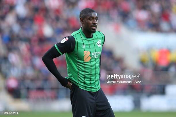 Hakeeb Adelakun of Scunthorpe United during the Sky Bet League One Play Off Semi FinalSecond Leg between Rotherham United and Scunthorpe United at...