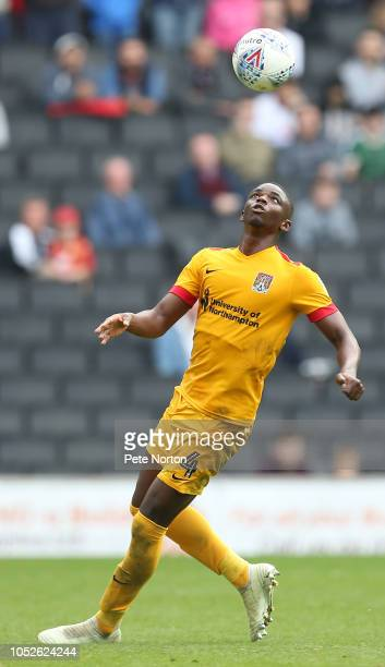Hakeem Odoffin of Northampton Town during the Sky Bet League Two match between Milton Keynes Dons and Northampton Town at Stadium mk on October 20...