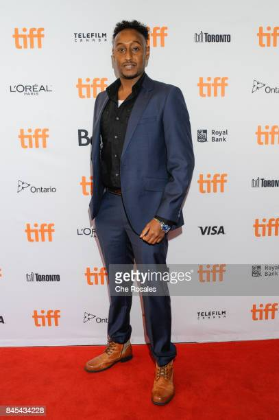 Hakeemshady Mohamed arrives to the Submergence premiere at The Elgin on September 10 2017 in Toronto Canada