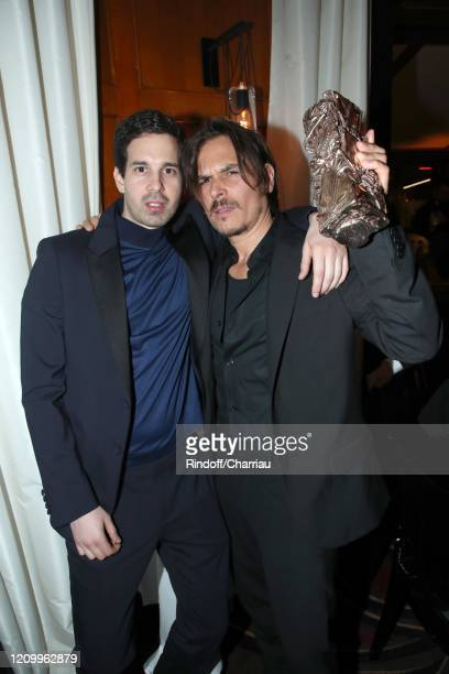 Hakim Faris and Dan Levy attend Cesar Film Award 2020 Dinner at Le Fouquet's on February 28 2020 in Paris France