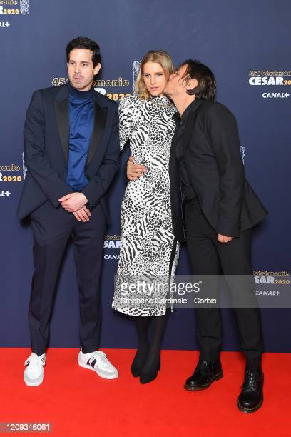 Hakim Faris Yorina Bosco and Dan Levy arrive at the Cesar Film Awards 2020 Ceremony At Salle Pleyel In Paris on February 28 2020 in Paris France