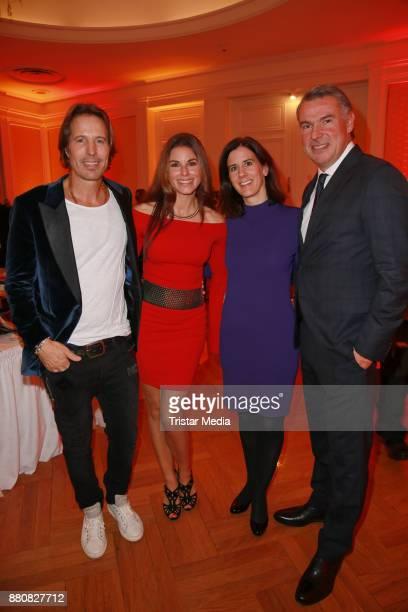 Hakim Meziani and his wife Anja Meziani Katja Suding and Udo Riglewski attend the Movie Meets Media event 2017 at Hotel Atlantic Kempinski on...