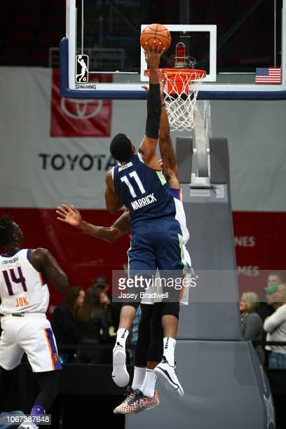 Hakim Warrick of the Iowa Wolves goes up for a dunk against the Northern Arizona Suns in an NBA GLeague game on December 1 2018 at the Wells Fargo...