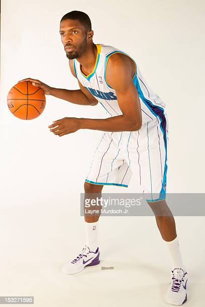 Hakim Warrick of the New Orleans Hornets poses for a portrait for 2012 NBA Media Day on October 1 2012 at the Alerio Center in Westwego Louisiana...