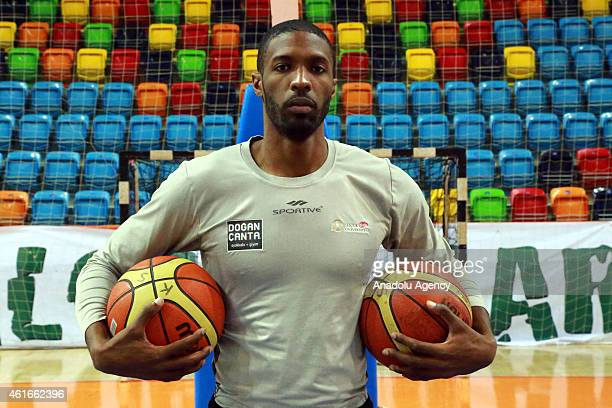 Hakim Warrick of Torku Konyaspor poses for a photograph in Konya Turkey on January 13 2015