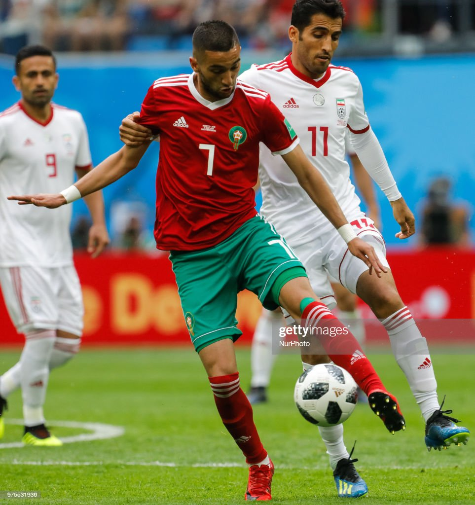 good service detailing 100% authentic Hakim Ziyach of Morocco national team and Vahid Amiri of IR ...