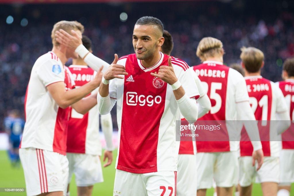 Hakim Ziyech of Ajax during the Dutch Eredivisie match