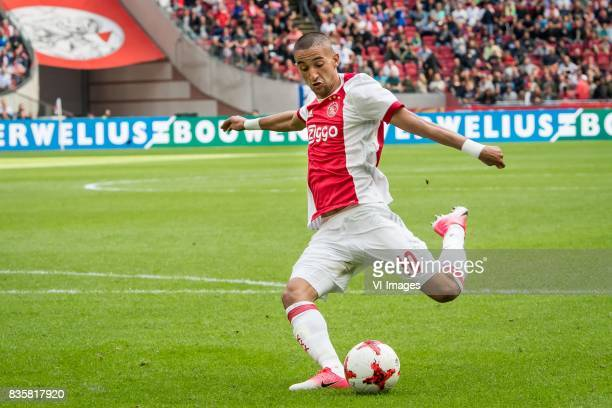 20 Hakim Ziyech of Ajax during the Dutch Eredivisie match between Ajax Amsterdam and FC Groningen at the Amsterdam Arena on August 20 2017 in...