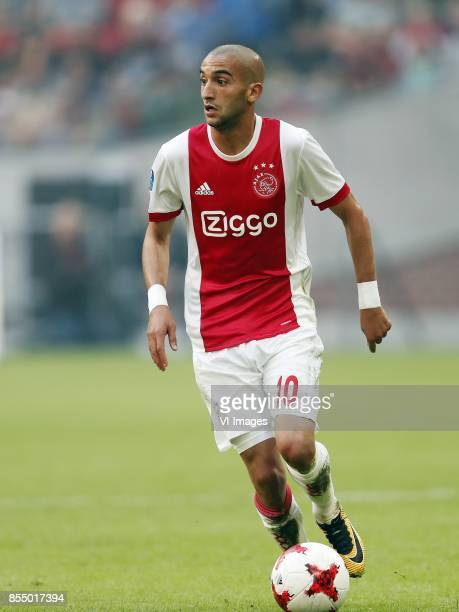 Hakim Ziyech of Ajax during the Dutch Eredivisie match between Ajax Amsterdam and Vitesse Arnhem at the Amsterdam Arena on September 24 2017 in...