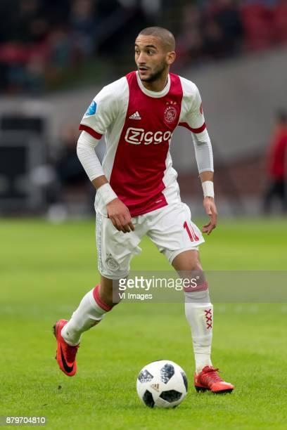 Hakim Ziyech of Ajax during the Dutch Eredivisie match between Ajax Amsterdam and Roda JC at the Amsterdam Arena on November 26 2017 in Amsterdam The...
