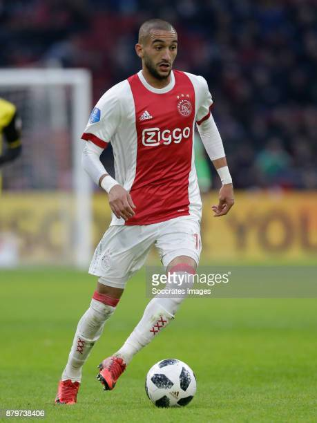 Hakim Ziyech of Ajax during the Dutch Eredivisie match between Ajax v Roda JC at the Johan Cruijff Arena on November 26 2017 in Amsterdam Netherlands