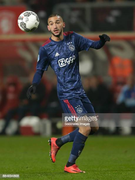 Hakim Ziyech of Ajax during the Dutch Eredivisie match between Fc Twente v Ajax at the De Grolsch Veste on December 2 2017 in Enschede Netherlands