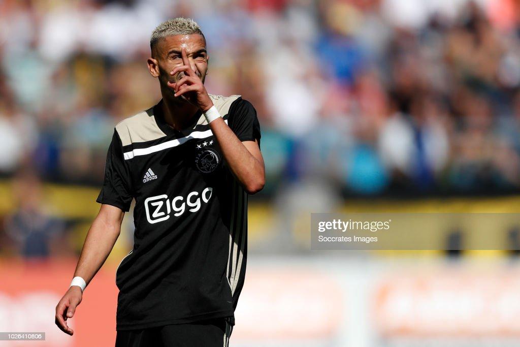 Hakim Ziyech of Ajax during the Dutch Eredivisie match between Vitesse v Ajax at the GelreDome on September 2, 2018 in Arnhem Netherlands
