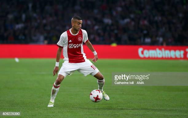 Hakim Ziyech of Ajax during the UEFA Champions League Qualifying Third Round match between Ajax and OSC Nice at Amsterdam Arena on August 2 2017 in...