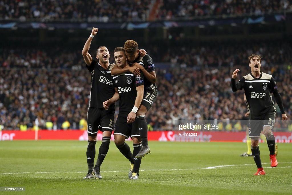 "UEFA Champions League""Real Madrid v Ajax"" : Nachrichtenfoto"
