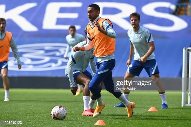 Hakim Ziyech of Chelsea during a training session at Stamford Bridge on August 28 2020 in London England