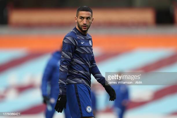 Hakim Ziyech of Chelsea during the Premier League match between Burnley and Chelsea at Turf Moor on October 31 2020 in Burnley United Kingdom...