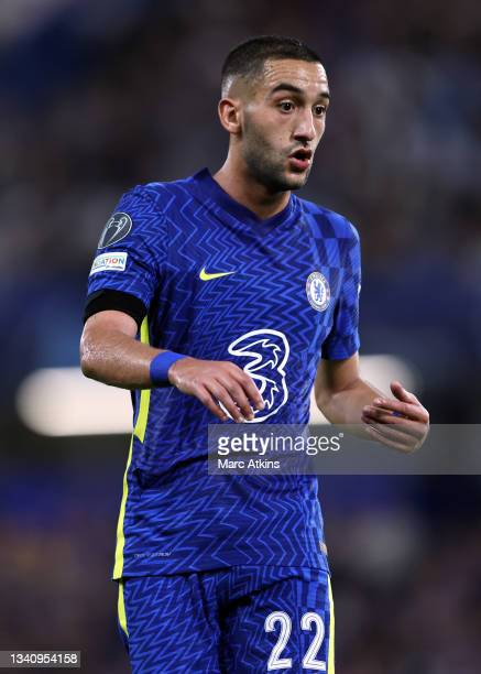 Hakim Ziyech of Chelsea during the UEFA Champions League group H match between Chelsea FC and Zenit St. Petersburg at Stamford Bridge on September...