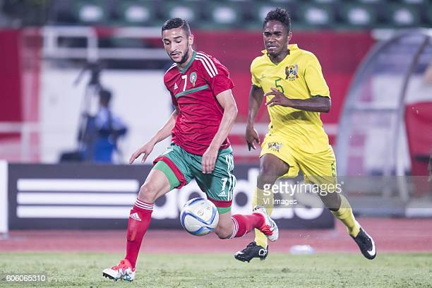 Hakim Ziyech of Morocco Charles P Mendes Monteiro of Sao Tome e Principe during the Africa Cup of Nations match between Morocco and Sao Tome E...