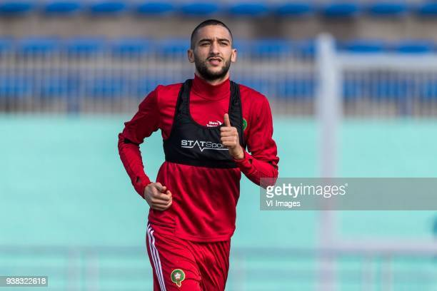 Hakim Ziyech of Morocco during a training session prior to the International friendly match between Morocco and Oezbekistan in Cassablanca on March...