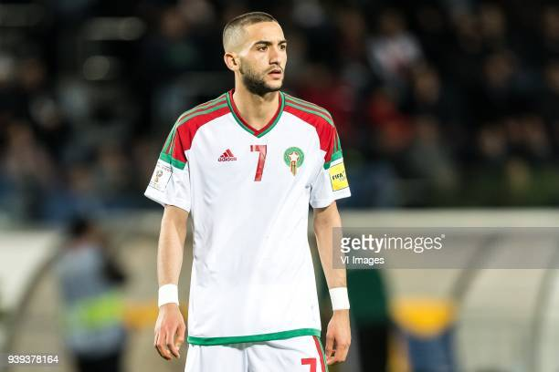 Hakim Ziyech Of Morocco During The International Friendly Match Between Morocco And Uzbekistan At The Stade