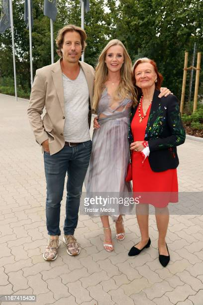 HakimMichael Meziani KimSarah Brandts and Brigitte Antonius attend the TV series 'Rote Rosen' celebrates 3000 episodes event on August 10 2019 in...