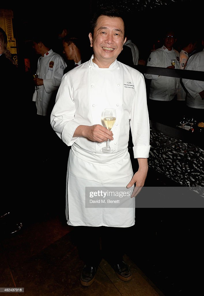 Hakkasan Executive Head Chef Tong Chee Hwee attends Le Club des Chefs des Chefs dinner at Hakkasan Hanway Place on July 20, 2014 in London, England.