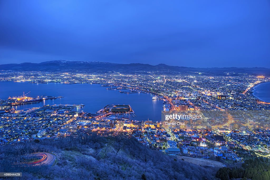 Hakodate at Dusk : Stock Photo