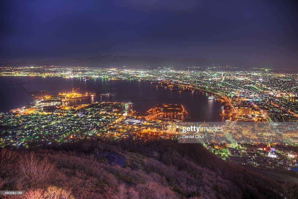 Hakodate at night : Stock Photo